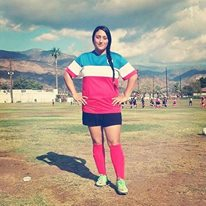 On the soccer field ! I love the sport!
